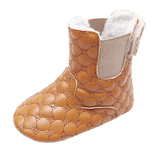 Snakell Baby Kinder Jungen Mädchen Stiefel Warme Sneaker Stiefel Schnee Baby Stiefel Warm Schuhe, Boots Kinderstiefel aus Lammfell und Wild-Leder Stiefel für Kinder Jungen und Mädchen Lammfellschuhe