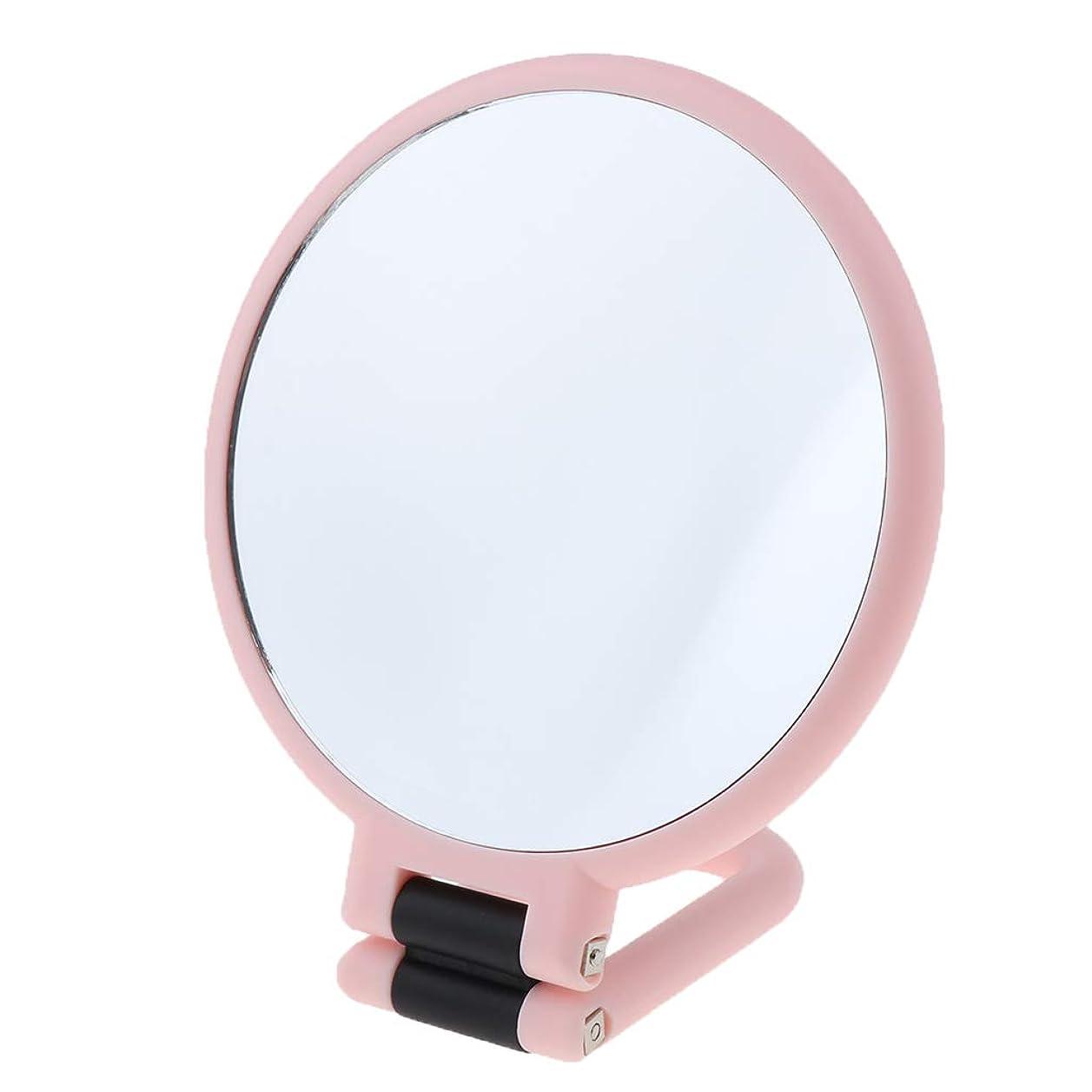 滅多黙認する肺炎P Prettyia ポータブル 化粧鏡 両面 ハンドヘルド 拡大鏡 全3選択 - 3倍拡大
