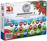 Ravensburger 3D Puzzle Bundesliga Adventskalender 2020 für Kinder und Erwachsene