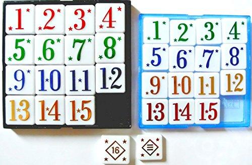 15ゲーム スライドパズル 15パズル (プレミアムバージョン1個とノーマル1個の) 大小2個 遊び比べセット 頭を使う脳トレーニングにお勧め
