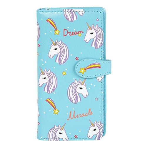 Shagwear Monederos para mujeres jóvenes: Varios colores y diseños: (Unicornios / Unicorns Blue)