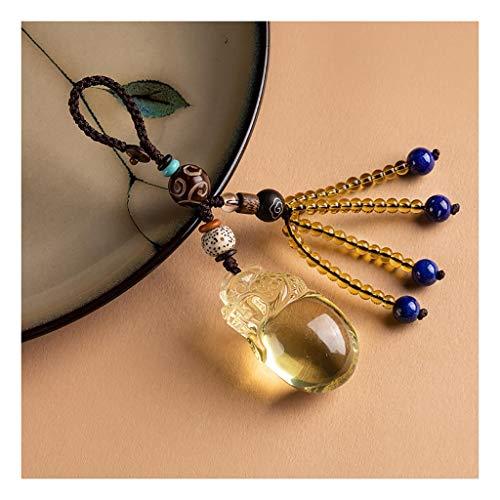 WYH Keychain Citrine Bracelets Porte-clés Bracelet Corde Tissage Keychain Bracelet Cercle Porte-clés Bracelet chaîne Porte-clés (Color : 1)