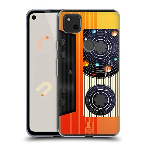 Head Case Designs Videocassetta Musica Spazio Cover in Morbido Gel Compatibile con Google Pixel 4a