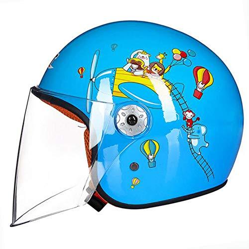 OUYA Casco De Bicicleta para Niños Junior, Casco Cómodo Ajustable De Seguridad para Niños Y Niñas para Rodillo, Scooter, Monopatín, Bicicleta (3-12 Años),Azul,S