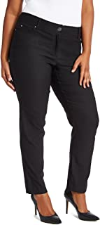 89th + Madison Women's Ultra Flattering Five Pocket Stretch Straight Leg Pants