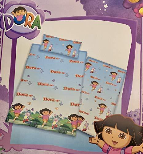 Karamelo Funda NÓRDICA 3/Piezas Dora LA Exploradora, Color: ÚNICO, Medida: 190x250(para Cama de 105cm).