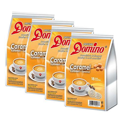 4 x DOMINO Kaffeepads Karamell 18 Pads