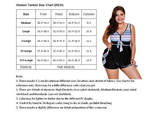 Happy Sailed Womens Tummy Control Swimwear Swimdress 2 Piece Swimsuit with Shorts Size 12 14