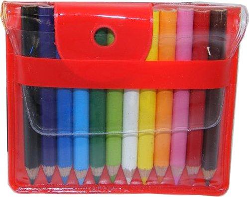 BC USA 12 Mini Colored Pencils in Handy Pouch