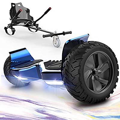 "GeekMe Hoverboards,Off Road Hoverboards with Hoverkart,8.5"" Hoverboards All Terrain with Bluetooth Speaker,LED lights"