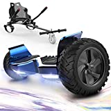 """GeekMe Hoverboards,Off Road Hoverboards with Hoverkart,8.5"""" Hoverboards All Terrain with Bluetooth Speaker,LED lights…"""