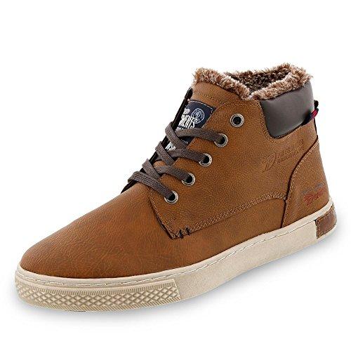 TOM TAILOR Herren 5885002 Hohe Sneaker, Braun (Rust 00066), 44 EU
