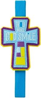 You Make God Smile Cross Elastic Band Bookmark