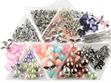 Vintageparts DIY - Set für 30 Perlenengel Schutzengel in silberfarben als Gastgeschenk für...