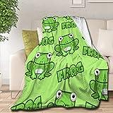 Samantabhadra Luxury Fleece Flannel Throw Blanket Aerobics Frogs Lightweight Plush Super Soft Cozy Blankets for All Season 50'x40' for Kids