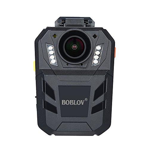 Boblov WA7-D HD 1296P 64 GB Fotocamera del Corpo di Polizia DVR Telecomando 170°