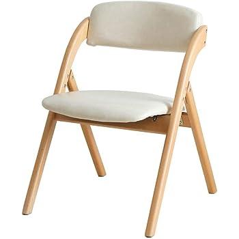 Couleur : A Chaises FEI Confortable Pliante m/énage en Bois Massif /à Manger Fauteuil Fauteuil Solide et Durable