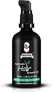 Muuchstac Ayurvedic Hair Growth Oil, Helps Grow New hair, Reduces DHT Productions, Controls hairfall, 100ml