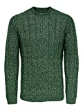 Only & Sons onsPHIL 7 Cable Crew Neck Knit Suéter, Verde Oscuro, M para Hombre