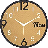 JaipurCrafts Reloj de pared de plástico para el hogar/sala de estar/dormitorio/cocina - 12 pulgadas (con movimiento Ajanta)