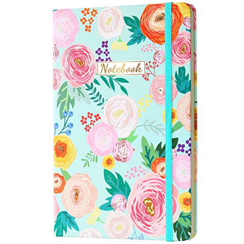 """Ruled Journal/Notebook- Lined Journal, 8.35""""X5.8"""", Hardcover, Back Pocket, Strong Twin-Wire Binding with Premium Paper, Lined"""
