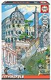 Educa Borras - Serie Citypuzzle, Puzzle 200 piezas, Roma (18468)