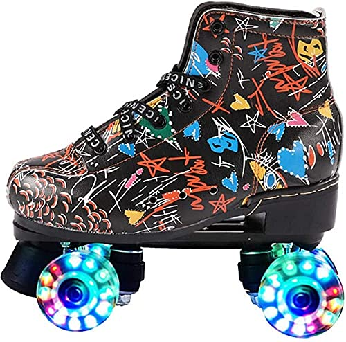 Outdoor Roller Skates Roller Skates Schoenen Roller Skates - Classic Quad Roller Skates - Kinderen Kinderen Tieners Vrouwen Volwassenen RollersKates - Comfortabele Quad Skates