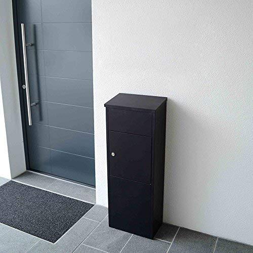 Profirst Mail PM 1100 Stand Paketbriefkasten Schwarz Briefkasten Paketfach Paketbox - 6