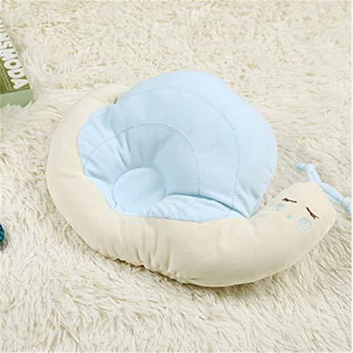 Almohada para bebé, lindo caracol, almohada de tela de felpa, almohada para dormir de animales, cojín suave para niños, 33 * 22 cm, decoración de habitación de bebé, ropa de cama infantil