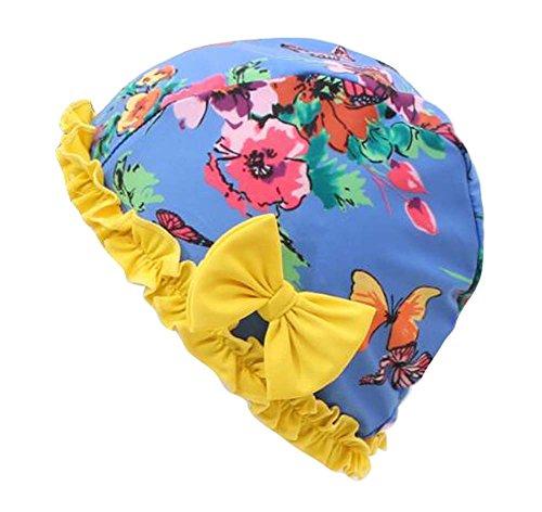 Black Temptation Tissu Bow Tie Bonnet de Douche Spa Bonnets de Bain Long Cheveux lâches Bonnets de Bain-C3