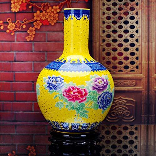 ZYG222 Palace Keramik Emaille große Vase und Pfingstrose Vase Klassische Heimtextilien Handwerk