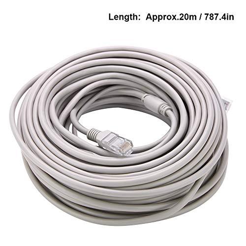 MAGT Cable Ethernet, Camara IP Cable 5M/10M/15M/20M RJ45 + DC...