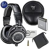 Audio Technica Headphone w/Keep Case Bundles (ATH-M50x Black, w/Keep Case & A1 Amp)