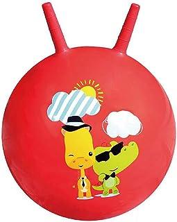 Xyanzi Juguetes para Bebés Bola Saltarina, Bola Inflable De Juguete Infantil para Brincar Y Saltar para Niños De 3 A 6 Años (Bomba Incluida) (Color : Rojo)