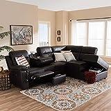 Baxton Studio Roland 2-Piece Sectional Sofa
