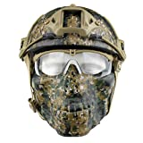 Fansport Paintball Masken Airsoft Maske Helm Mit Maske Paintball Helm CS Maske MilitäR Helm Maske Und Schutzbrille Helm Mit Brille Abs Helm