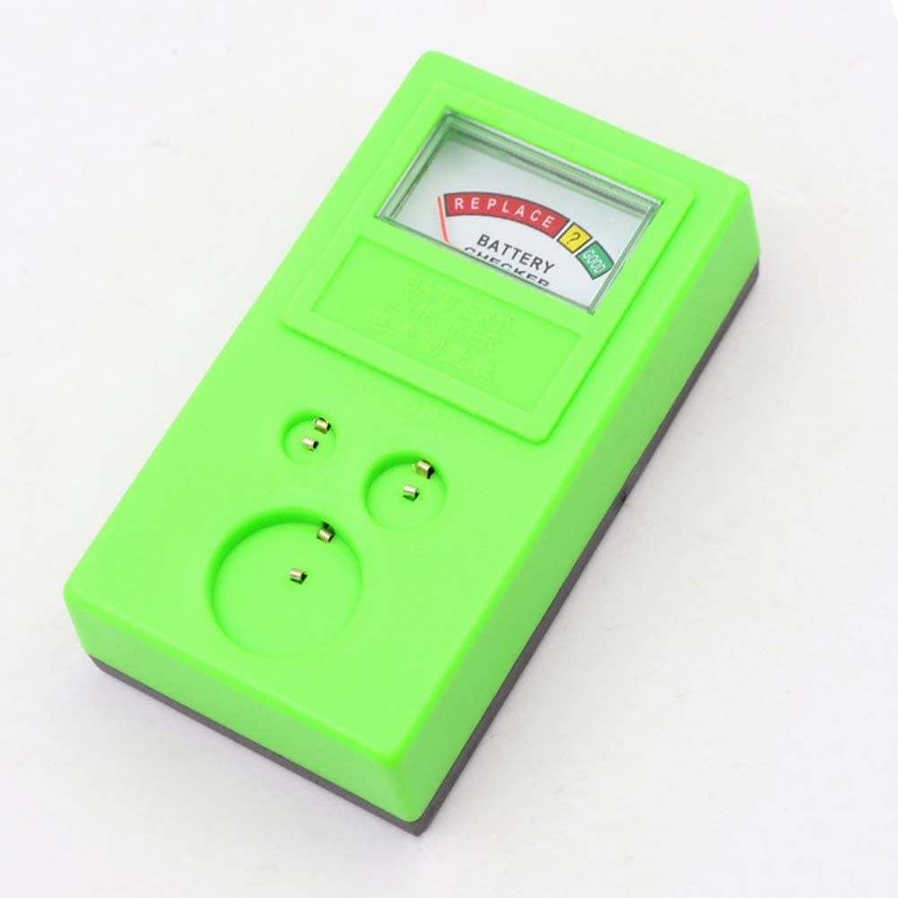 HaHawaii Battery Tester, Universal 3V 1.55V AA/AAA Cell Button Battery Tester Checker Tool Accuracy - Green