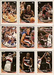 Portland Trailblazers 1993-94 Topps Basketball Team Set (Series 1 & 2) Clyde Drexler, Clyde Drexler Future Playoff MVP Subset card, Rod Strickland, Terry Porter, Buck Williams, Chris Dudley, Clifford Robinson, Clifford Robinson Highlight Card, Dave Johnson, Harvey Grant, James Robinson, Jerome Kersey, Kevin Thompson (RC), Mark Bryant, Terry Murray