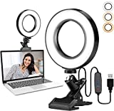COTOP Luz LED para videoconferencia, Ring Light 6.1'' Selfie Ring Light para...