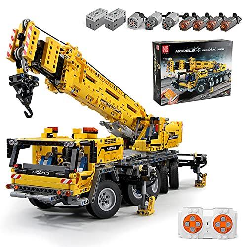 FigureArt Technik Kran Bausteine Modell, Mould King 13107 Technik Bausatz, 2590 Teile Groß Super Kran MOC Klemmbausteine Bauset Kompatibel mit Lego