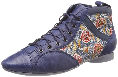 Think! Damen Guad_282288 Desert Boots, Blau (Capri/Kombi 90), 42 EU