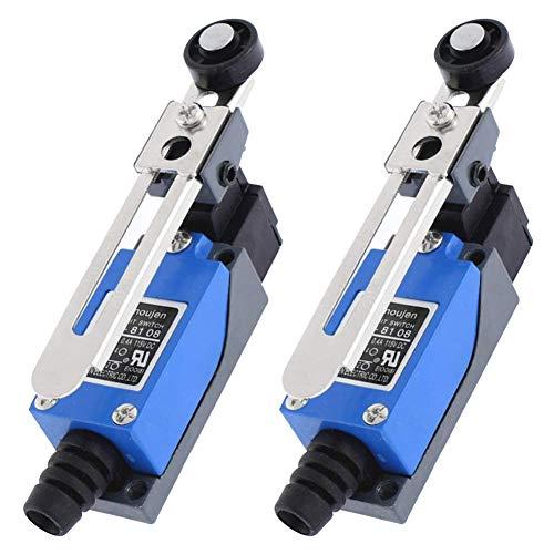 2Pieces ME-8108 Regolabile Interruttori di Finecorsa, Finecorsa per l'Industria Meccanica Campo Elettrico e Altri Settori