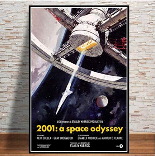 baiyinlongshop Leinwand Malerei Leinwand Wandbilder 2001 A Space Odyssey Movie Pop Retro Anime Poster Und Drucke Malerei Wand Für Wohnzimmer Home Decor40x60cm Ohne Rahmen