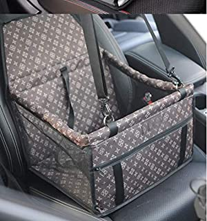 HUAXIANZI Pet Car Booster Seat, Breathable Waterproof Pet Dog Car Supplies Travel Pet Car Carrier Bag Seat Protector Cover for Small Puppy Dogs Cats-Brown