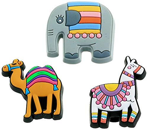 Crocs Unisex Colorful Animal 3er Pack Schuhanhänger, Mehrfarbig, Einheitsgröße