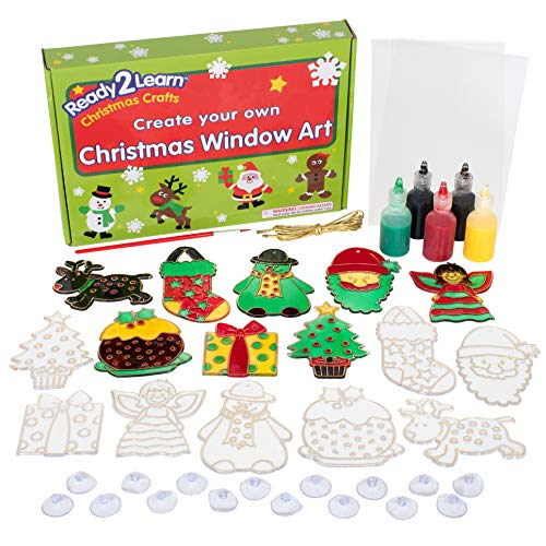 READY 2 LEARN Christmas Crafts - Create Your Own Christmas Window Art - Christmas Decorations for Home - All Materials Included