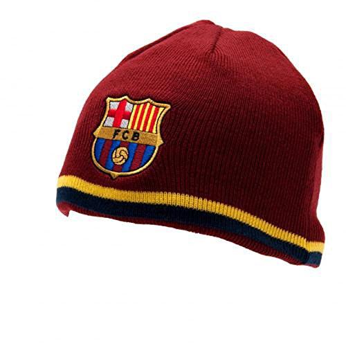 Exclusiv * FC Barcelona Bonnet d'hiver de ski pour adultes env. 56 cm