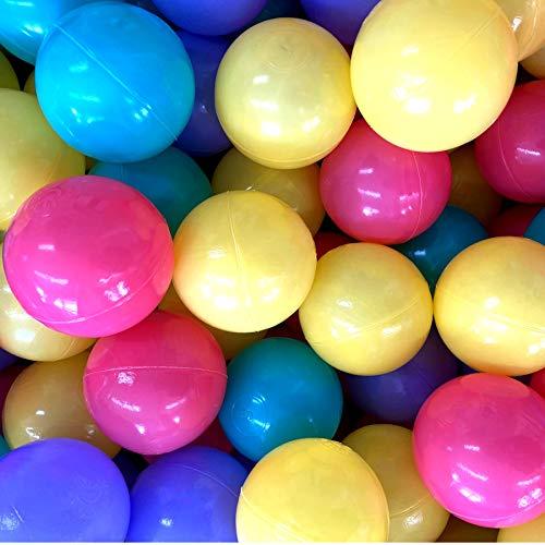 TikTakToo 500 Bunte Bälle für Bällebad 7cm Babybälle Plastikbälle Baby Spielbälle