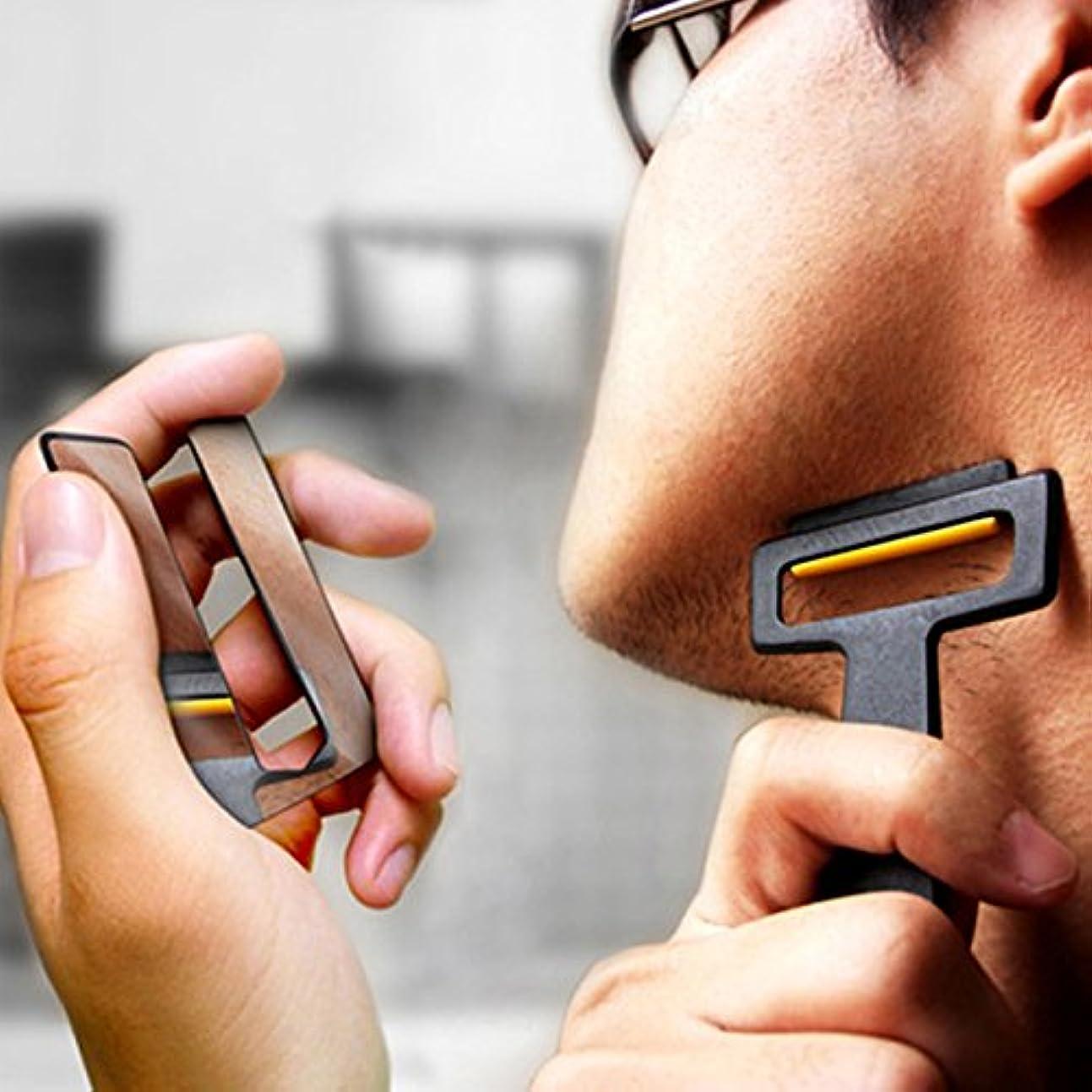Pogass Carzor 3 In 1 Card設計された財布ミニかみそりビードポータブルひげ剃りミラースタンドキット