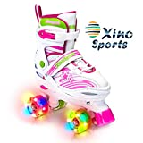 Xino Sports Adjustable Roller Skates for Children - Featuring PU Wheels, Awesome-Looking, Safe and Durable Roller Skates, Perfect for Boys and Girls!